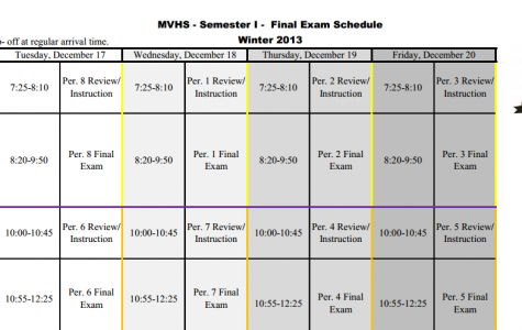 First Semester Finals Schedule