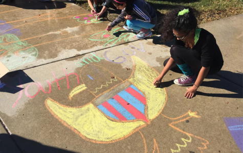 'Chalk the Walk' promotes school spirit