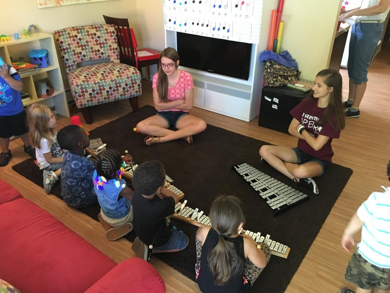 Amanda Brennan teaches kids in need the power of music