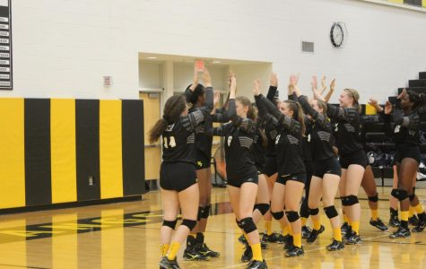Girls' Volleyball honors 100th win with Macdonald