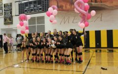 Girls' Volleyball plays in honor of breast cancer
