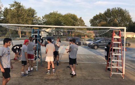 Boys' Soccer teaches soccer to younger children