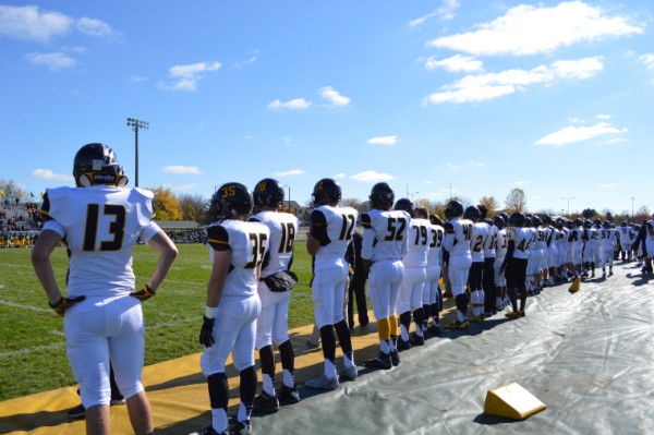 Metea football builds school pride with first playoff game
