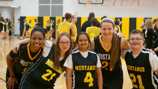 """Special Olympics and Girls Varsity Basketball help """"Pack the Stands"""""""