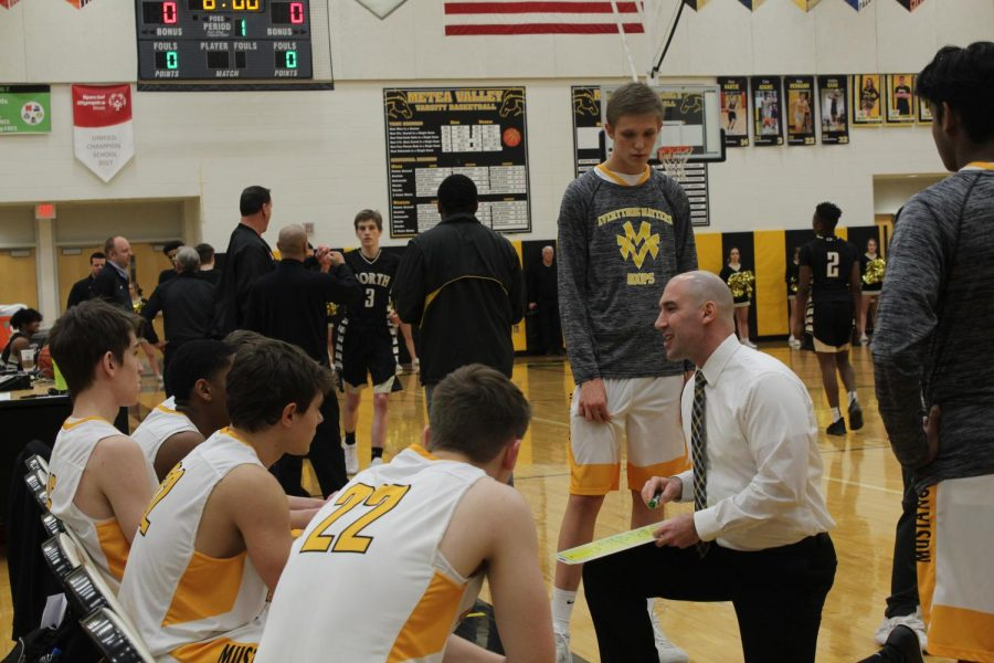 Boys basketball honors seniors with last home game win