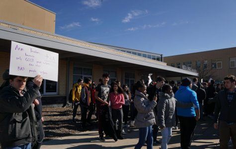 Metea students participate in a national student walkout