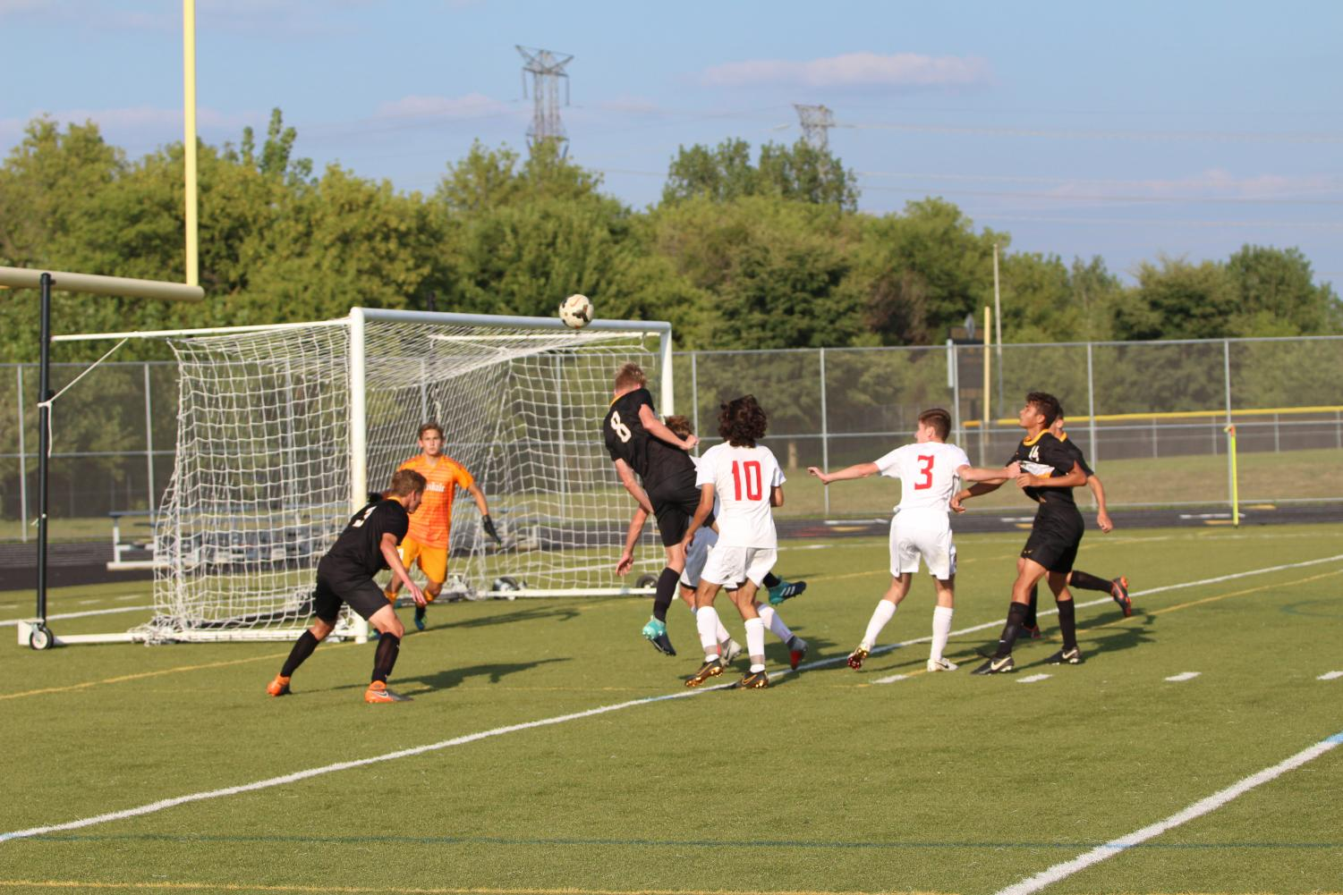 Boys' Soccer won 2-1 last night against Hinsdale Central.