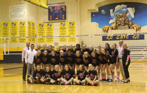 Girls' Volleyball falls to Neuqua Valley in Dig Pink match