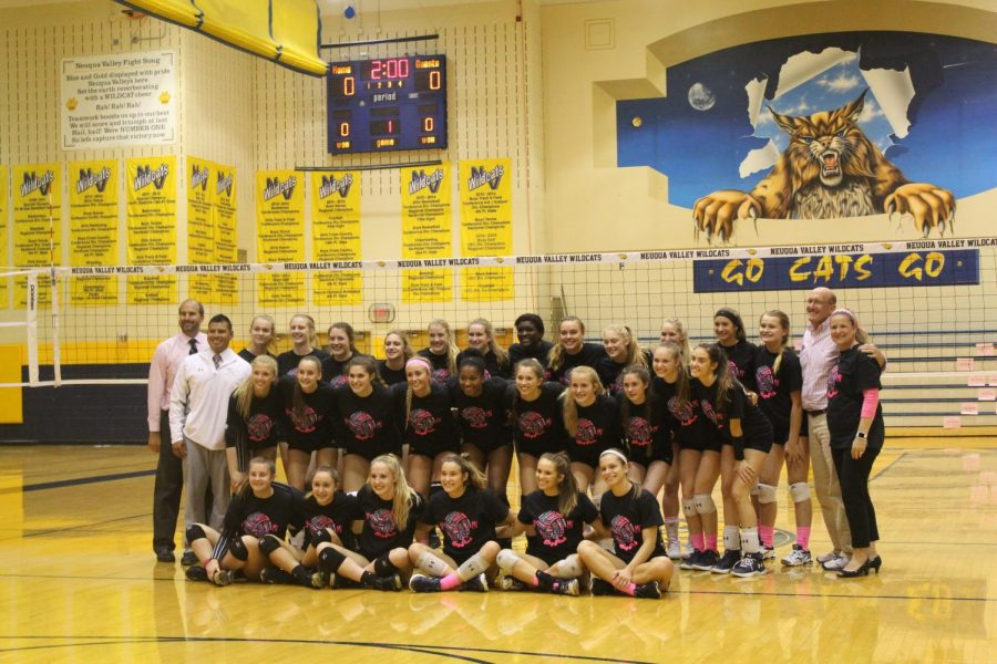 Girls%27+Volleyball+falls+to+Neuqua+Valley+in+Dig+Pink+match