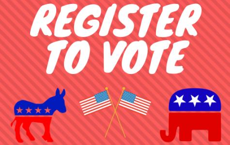 Students register to vote on National Voter Registration Day