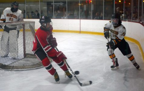 A pair of second period goals lift varsity hockey over Glenbard