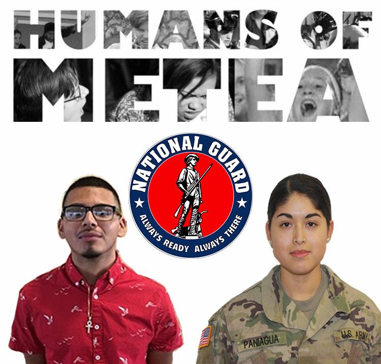 Humans of Metea: Deysi Paniagua and Brian Casares enlist for National Guard