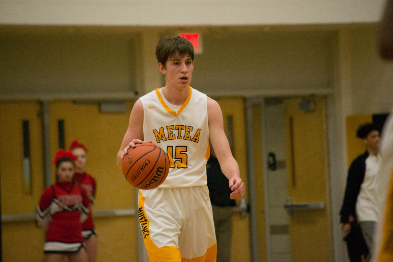 Senior Ethan Helwig scored 24 points during Friday's contest. He holds the school record for points in a game with 38.