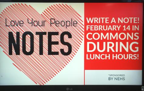 NEHS hosts Valentine's letter writing activity