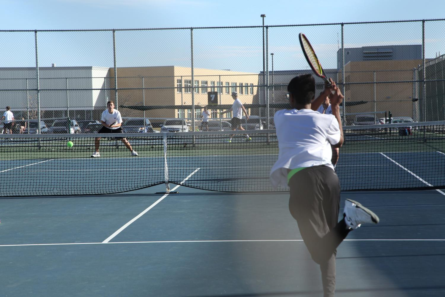 The Mustangs fought a close match against St. Charles North, ending the game 3-4.