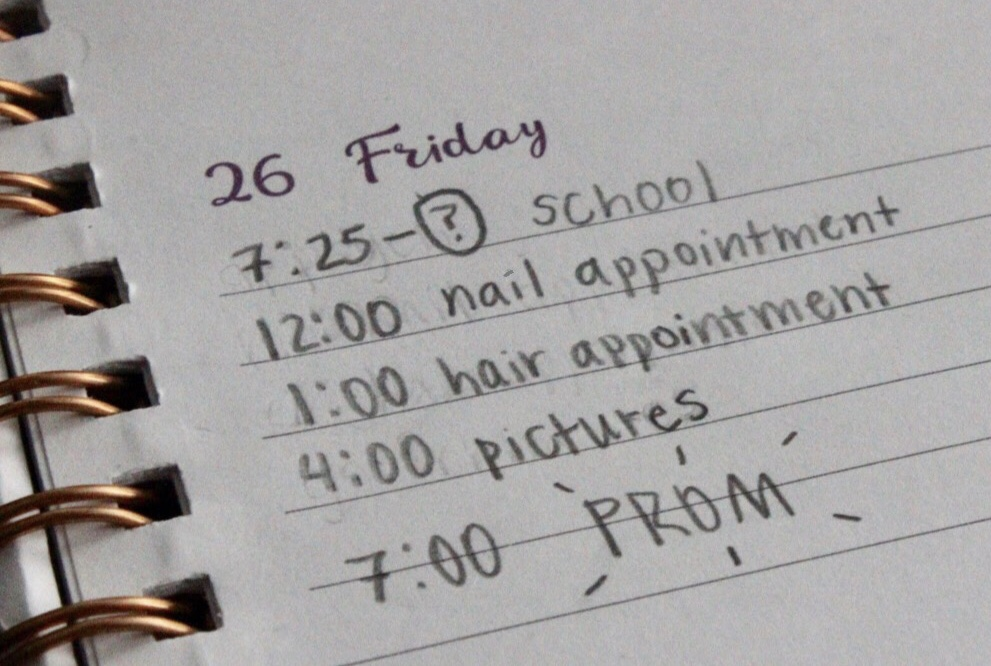 Students must plan around school in their preparations for Prom