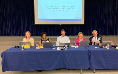 The District 204 School Board sets action to the e-learning program