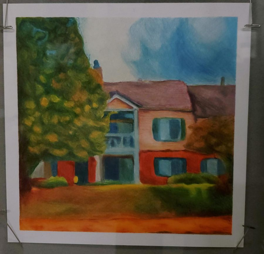 A watercolor pencil drawing by retired art teacher Kathryn Parenti