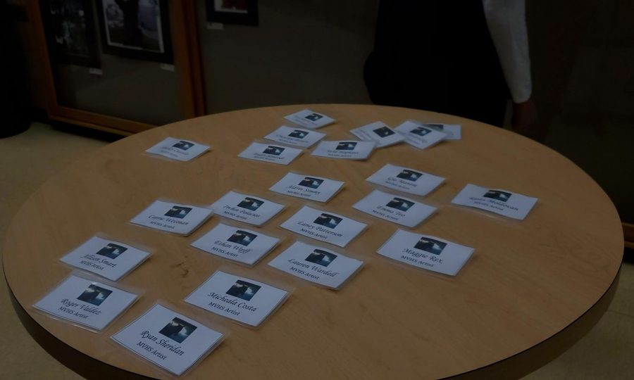 Each student participating in the gallery is made a custom nametag