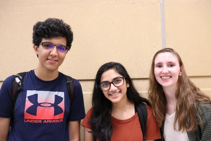 Shriman Gupta, Megha Saravanan, Caitlin Monagan.