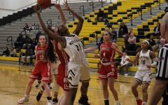 Girls' basketball battles for a victory against Central