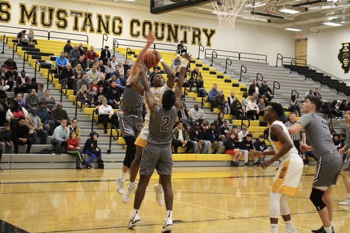 The+Mustangs+struggled+to+find+their+groove+last+night+against+the+Wolves.+They+ended+the+night+47-60.+They+boys+hope+to+gain+momentum+on+Friday+against+the+Central+Redhawks.