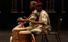Performers showcase their skills with the powerful drums.
