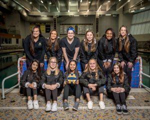 The girls' water polo team graduates 11 seniors this year.