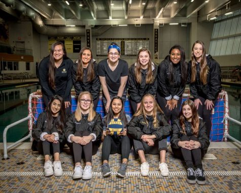 The girls' water polo team graduates 11 seniors this year.