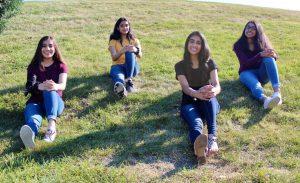 Founders of Fit 4 a Cure organization Ananya Handa, Zara Bahrainwala, Puja Teakulapalli, and Alopi Shah create a way to stay physically engaged.
