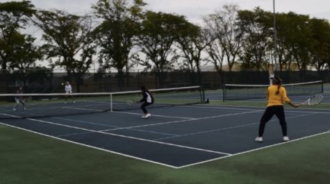 The tennis team had their last regular season game last week. The DVC Tournament starts this Friday.