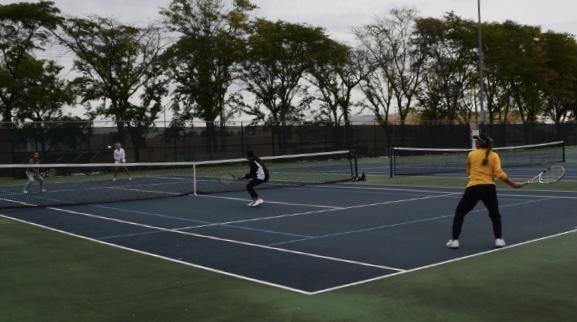 The tennis team had their last regular season game last week. The DVC Tournament starts this Friday.