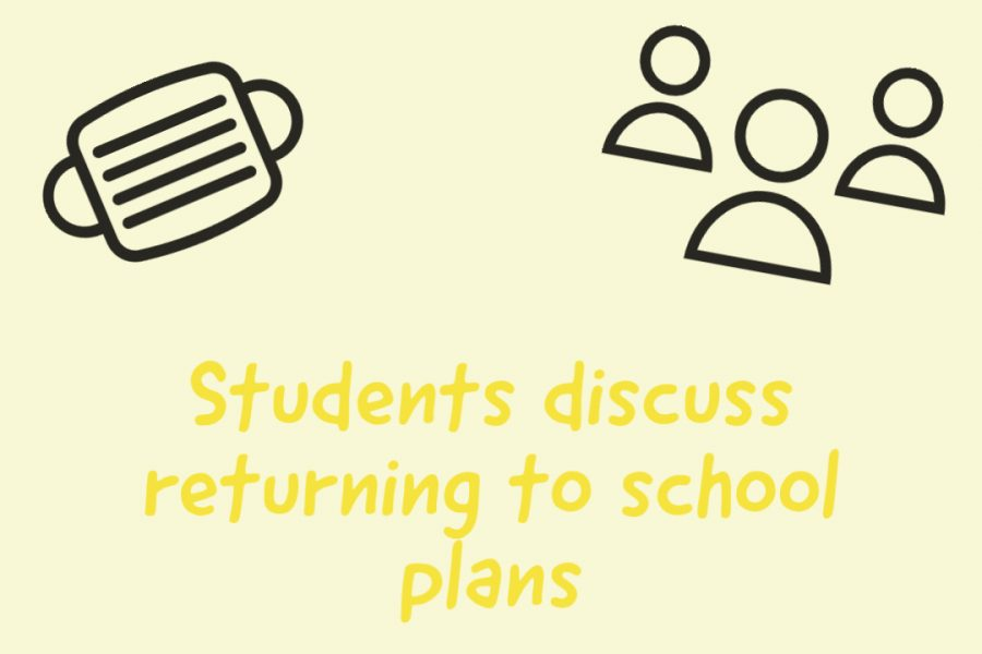 Students discuss returning to school