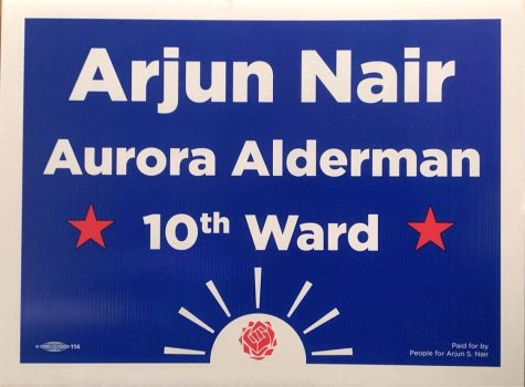 Arjun Nair, a 2015 Metea graduate, runs for Aurora Alderman and encourages students to get involved in politics.