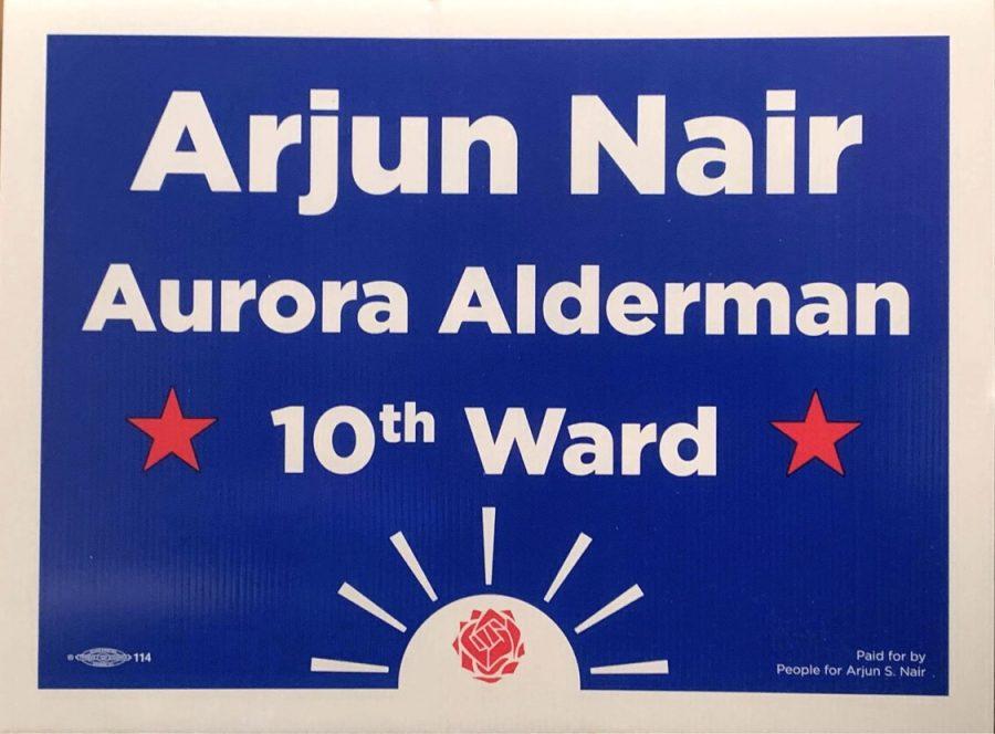 Arjun Nair, a 2015 Metea graduate, runs for Aurora Alderman and encourages students to get involved in politics.