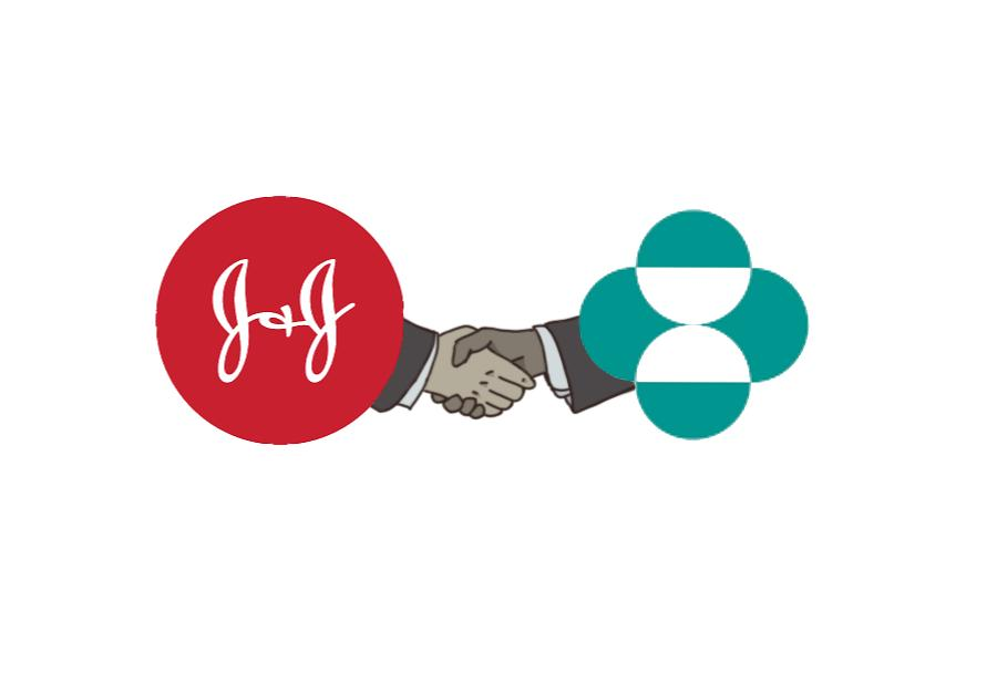 Johnson & Johnson and Merck & Co work together on the Covid vaccine.