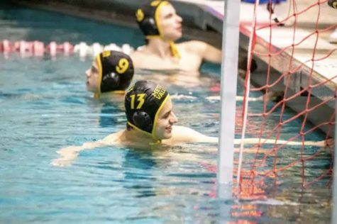 Evan Lopez's passion for water polo is shown with him constantly smiling and bringing a positive attitude to the team.