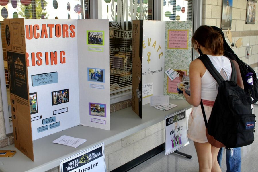 Students walked around while eating lunch and enjoyed the mass amount of informative posters around the school.
