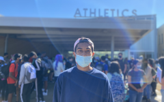 Freshman representative Kaustubh Kondapalli participates in Chalk the Walk to help showcase the clubs and activities of Metea Valley.