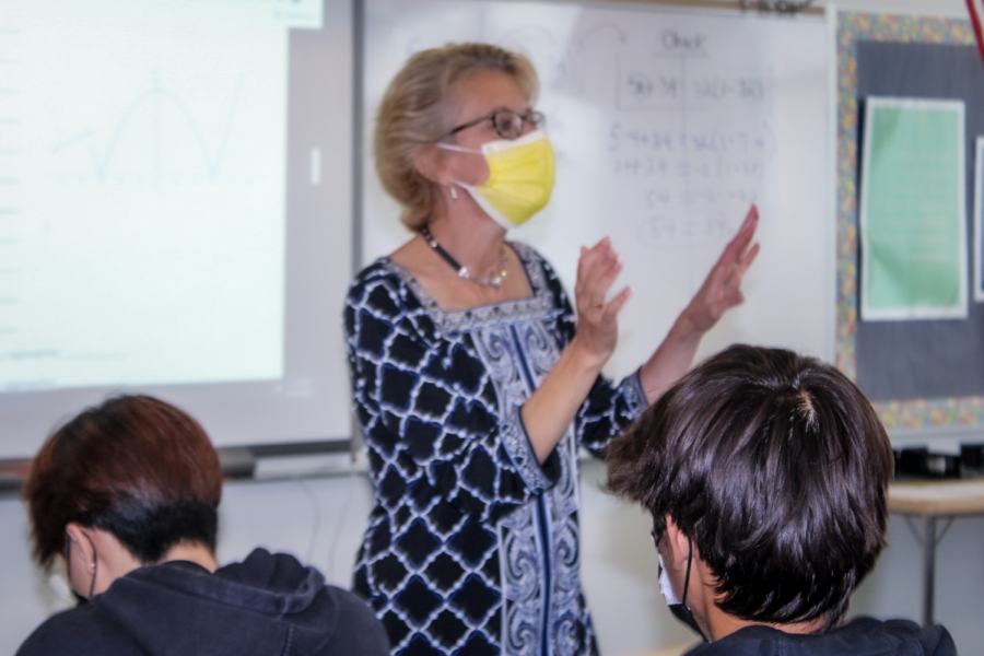 Mrs. Honeysett strives to reconnect with the students in her classes. Students are finding difficultly transitioning into past classroom norms.