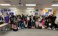 Student governments sophomore class participating in the spirit week which they planned.