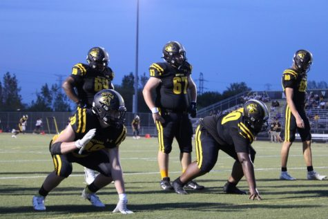 Before the game, Metea Valley varsity team was found warming up and getting into game headspace.